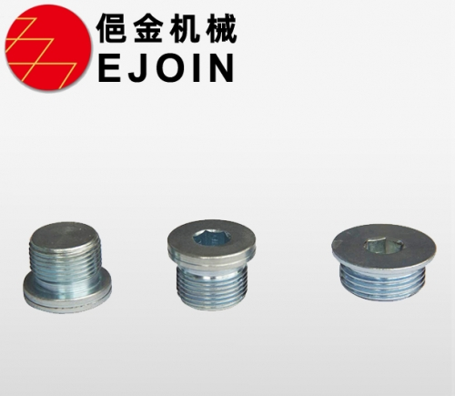Material 45 steel, blue and white zinc trivalent chromium, plug, oil plug